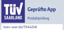 TK44248 Prüfzeichen Mediteo GmbH TÜV geprüfte App 2020 zw